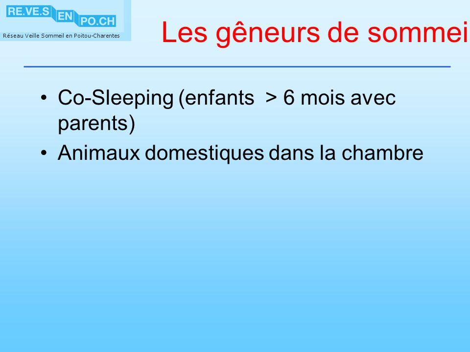 Les gêneurs de sommeil Co-Sleeping (enfants > 6 mois avec parents)