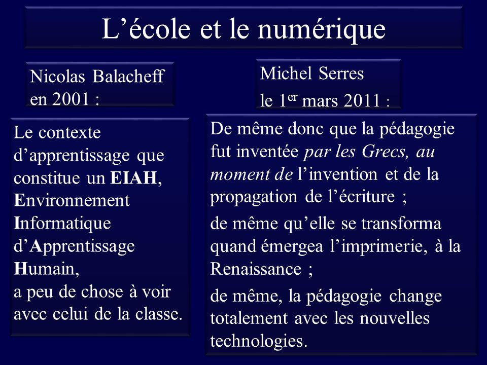 L'école et le numérique