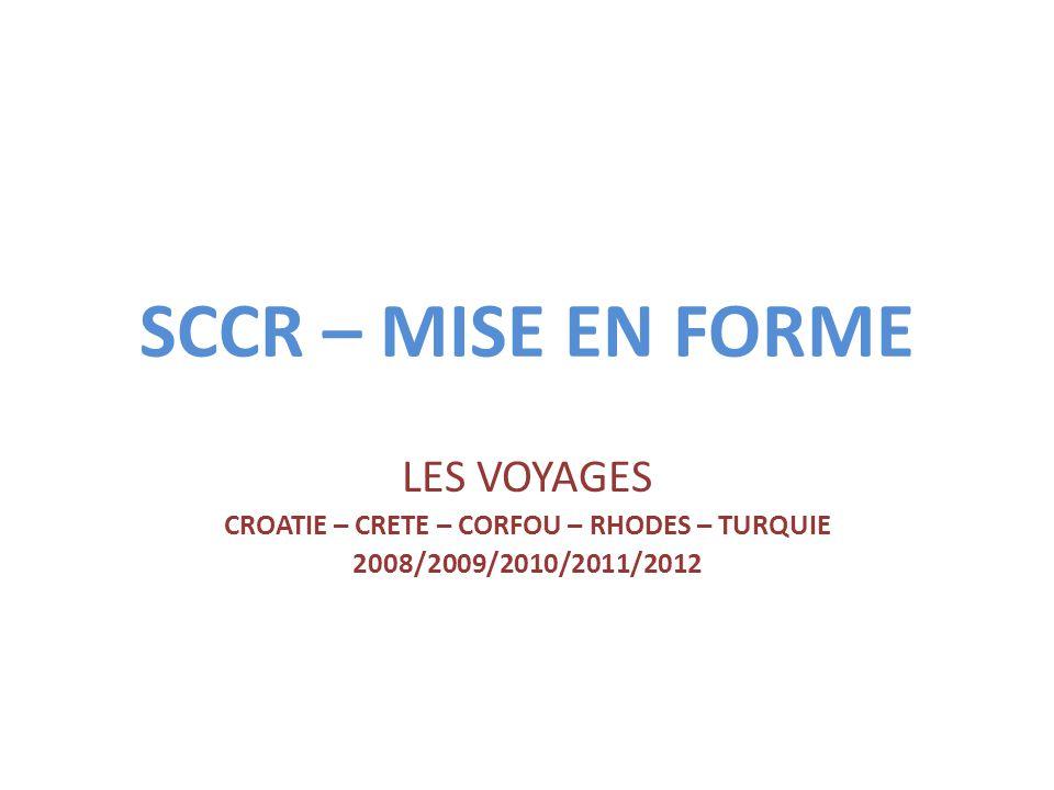 CROATIE – CRETE – CORFOU – RHODES – TURQUIE