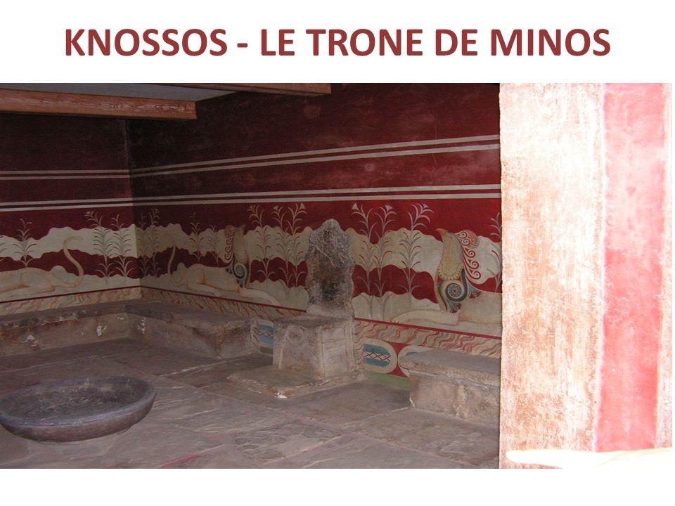 KNOSSOS - LE TRONE DE MINOS