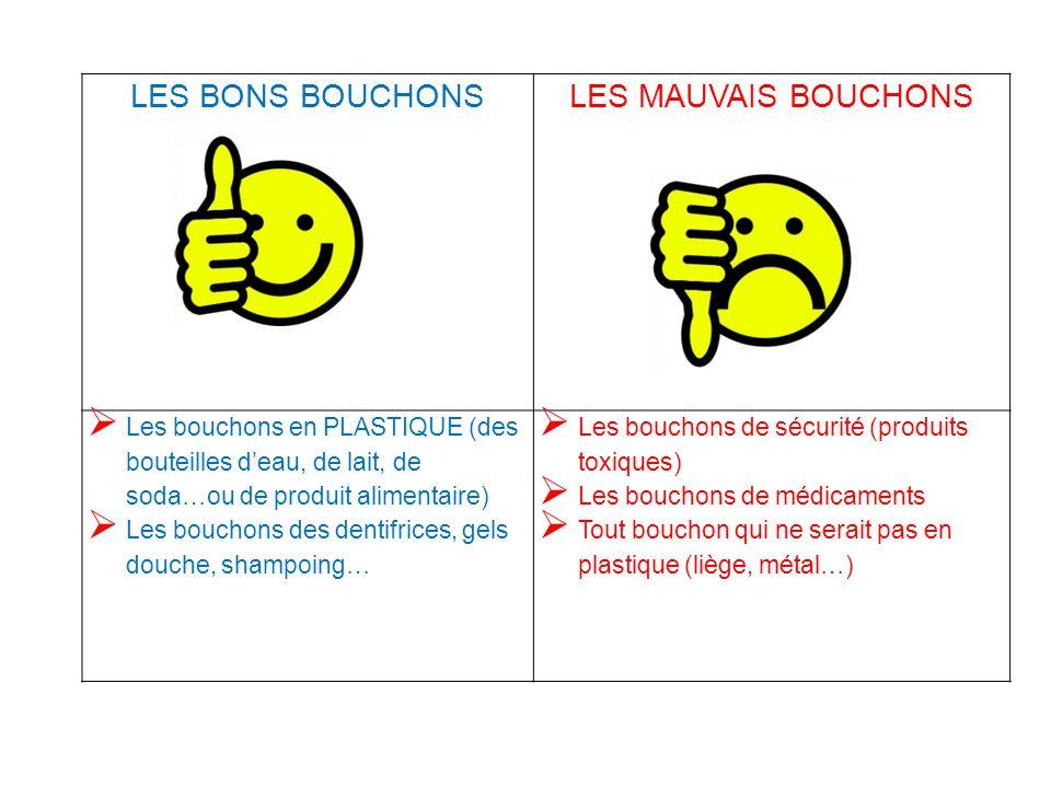 LES BONS BOUCHONS LES MAUVAIS BOUCHONS