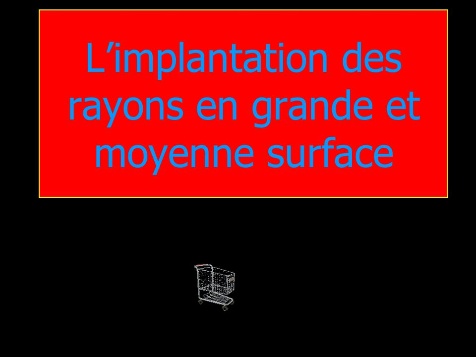 L'implantation des rayons en grande et moyenne surface