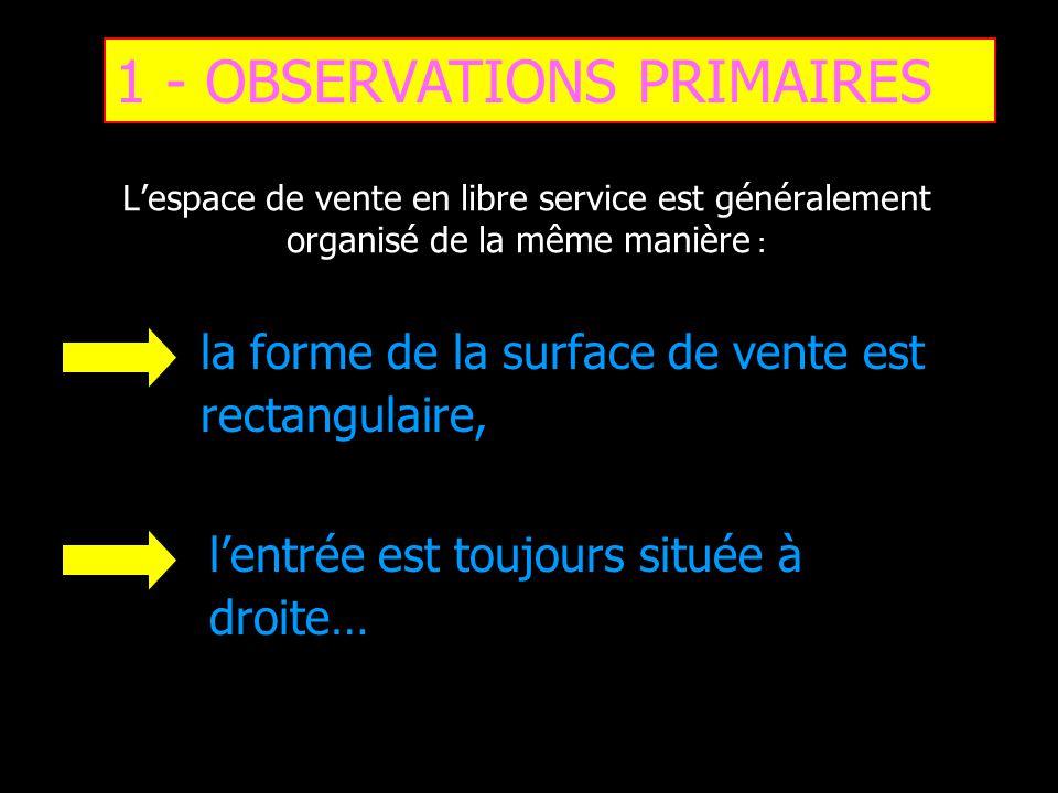 1 - OBSERVATIONS PRIMAIRES