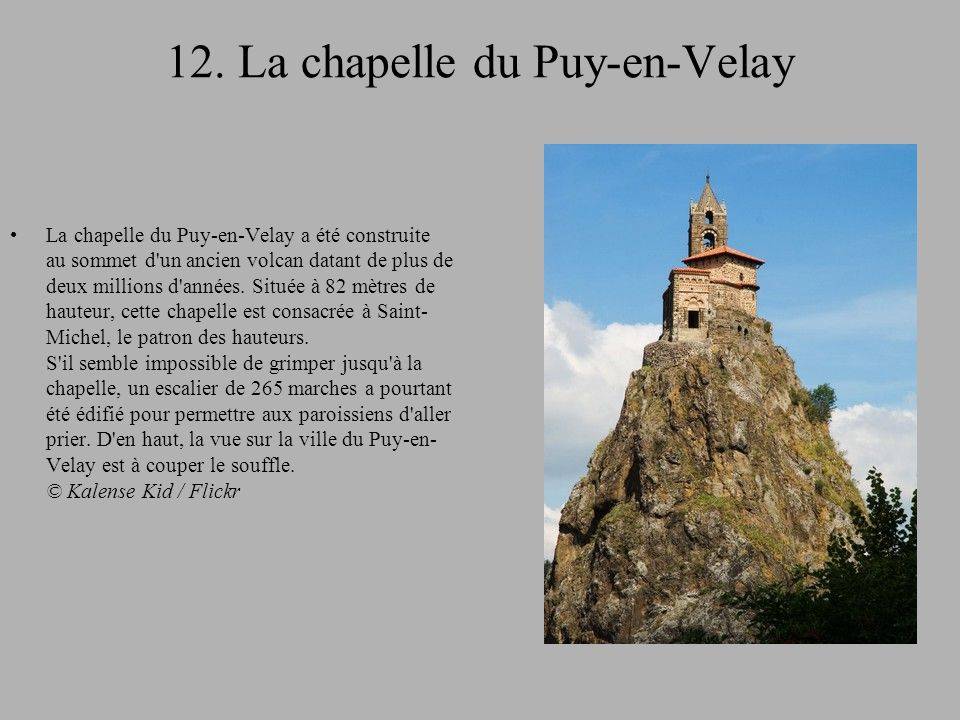 12. La chapelle du Puy-en-Velay