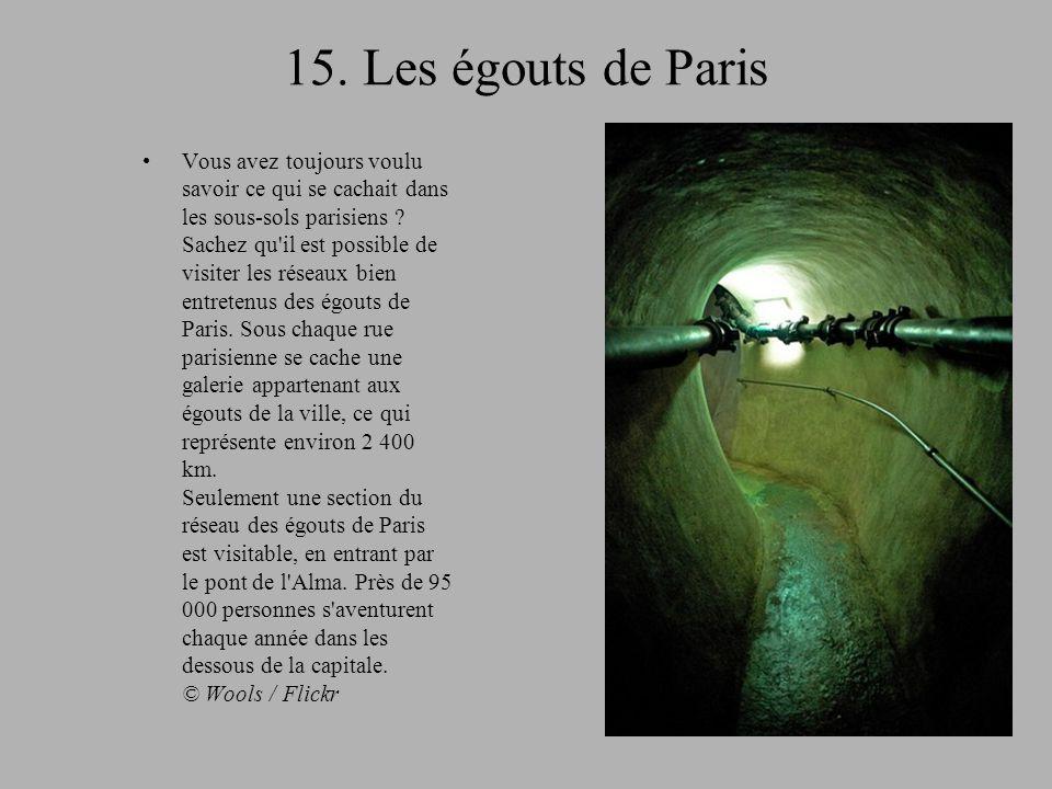 15. Les égouts de Paris