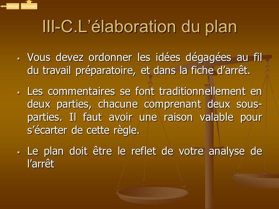 III-C.L'élaboration du plan