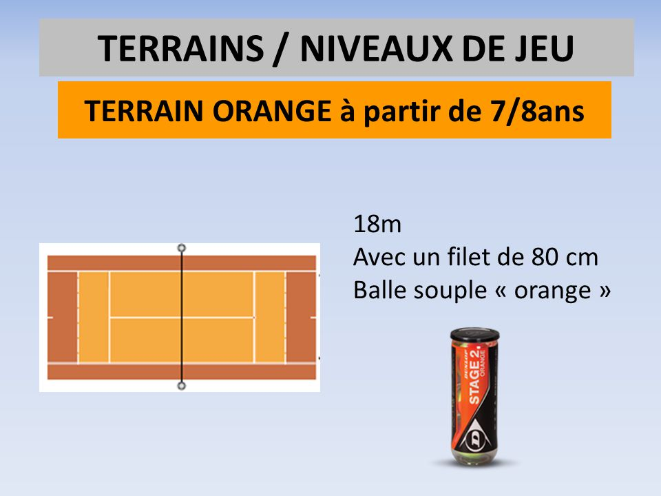 TERRAIN ORANGE à partir de 7/8ans