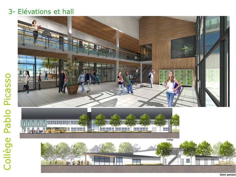 3- Elévations et hall Collège Pablo Picasso