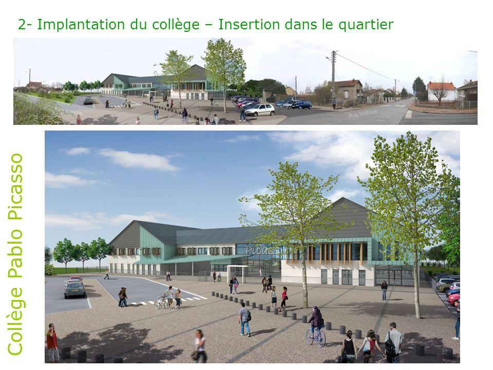 2- Implantation du collège – Insertion dans le quartier