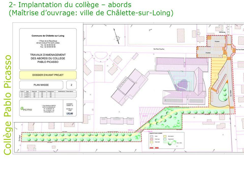 Collège Pablo Picasso 2- Implantation du collège – abords