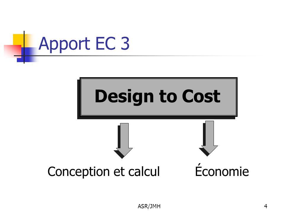 Apport EC 3 Design to Cost Conception et calcul Économie ASR/JMH