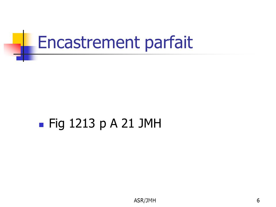 Encastrement parfait Fig 1213 p A 21 JMH ASR/JMH