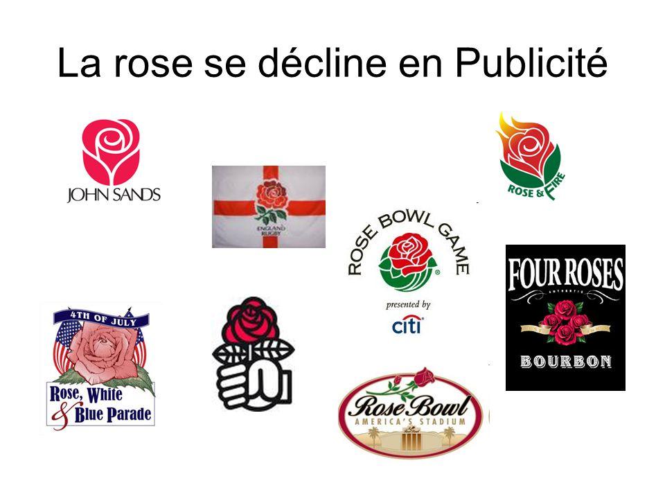 La rose se décline en Publicité
