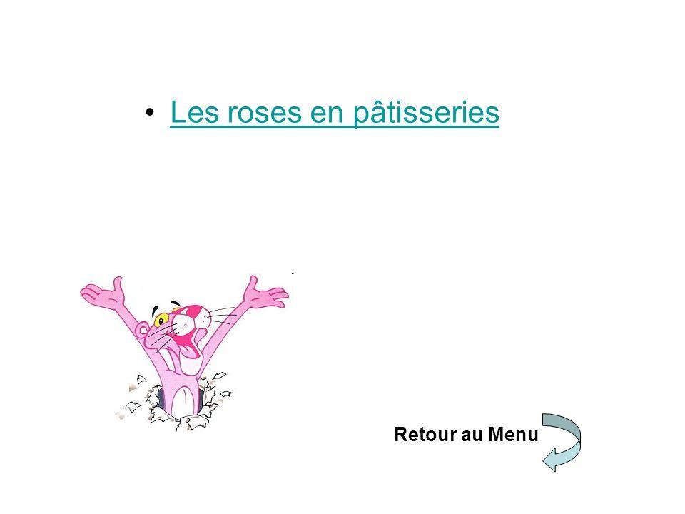 Les roses en pâtisseries