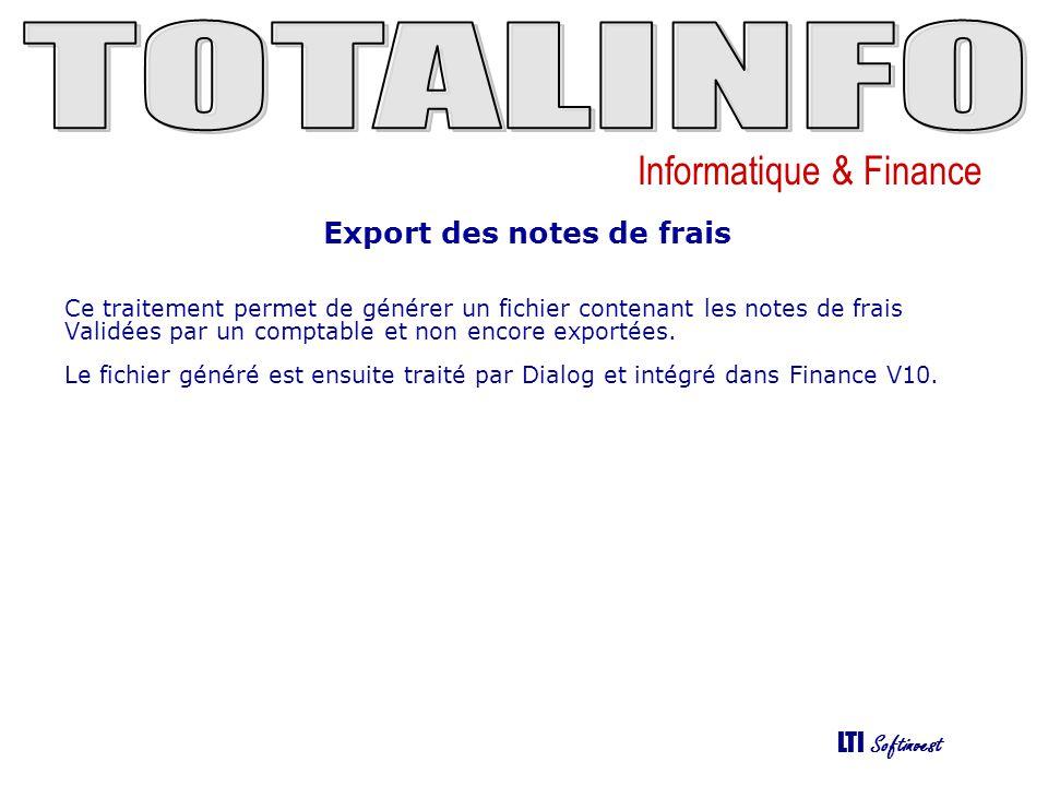Export des notes de frais