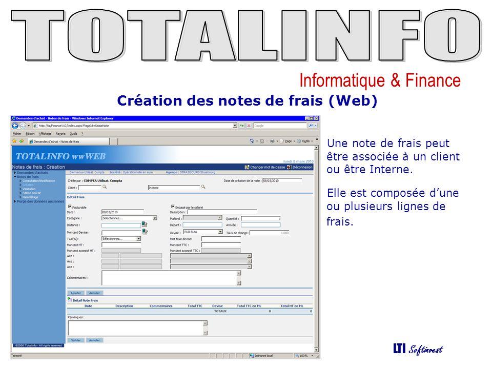Création des notes de frais (Web)