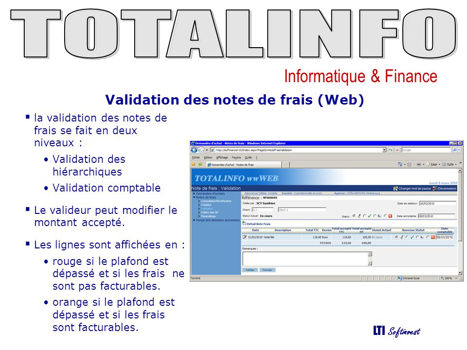Validation des notes de frais (Web)