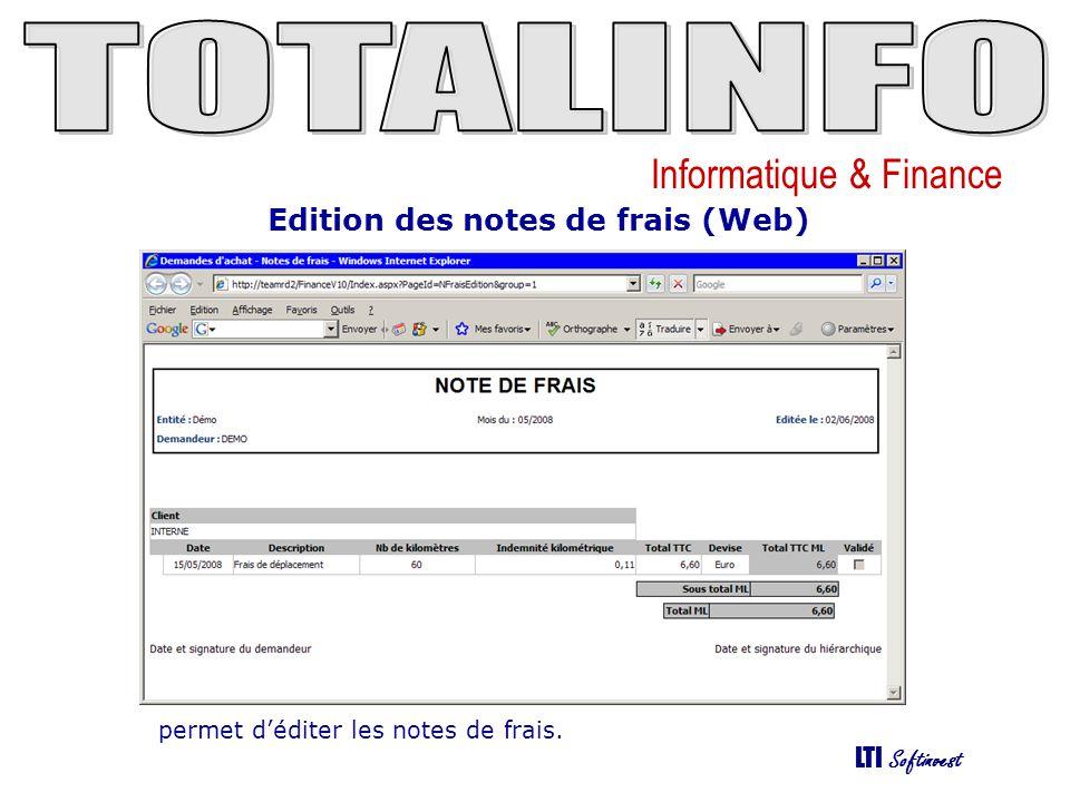 Edition des notes de frais (Web)