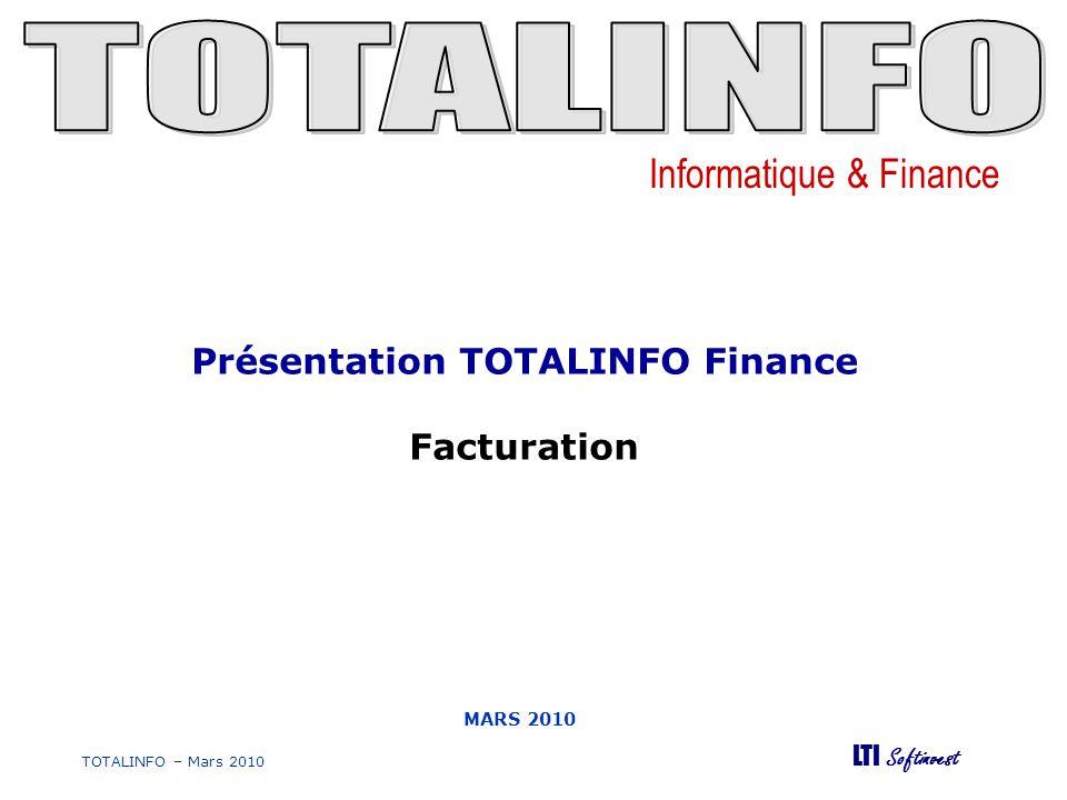 Présentation TOTALINFO Finance