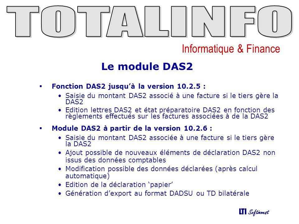 Le module DAS2 Fonction DAS2 jusqu'à la version 10.2.5 :
