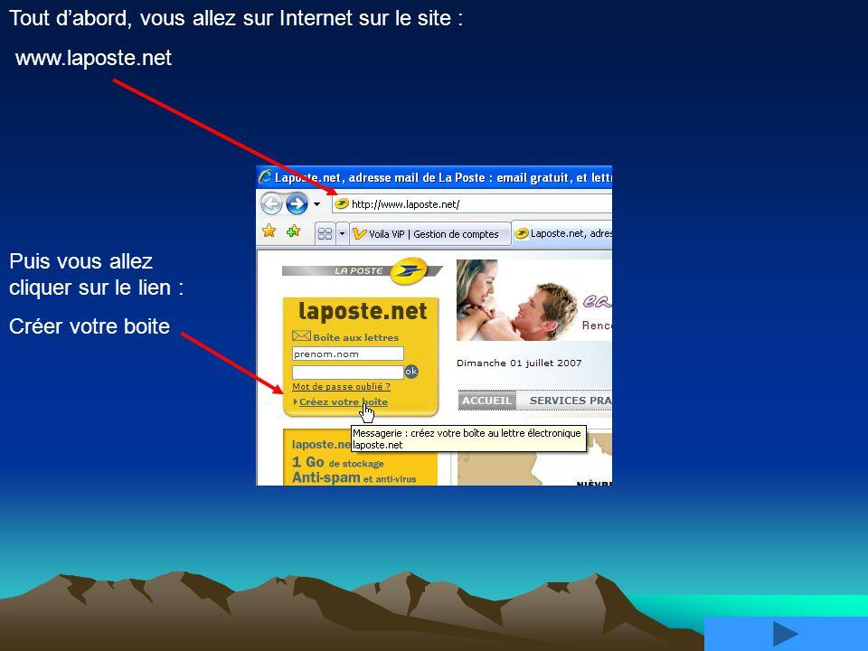 Tout d'abord, vous allez sur Internet sur le site :