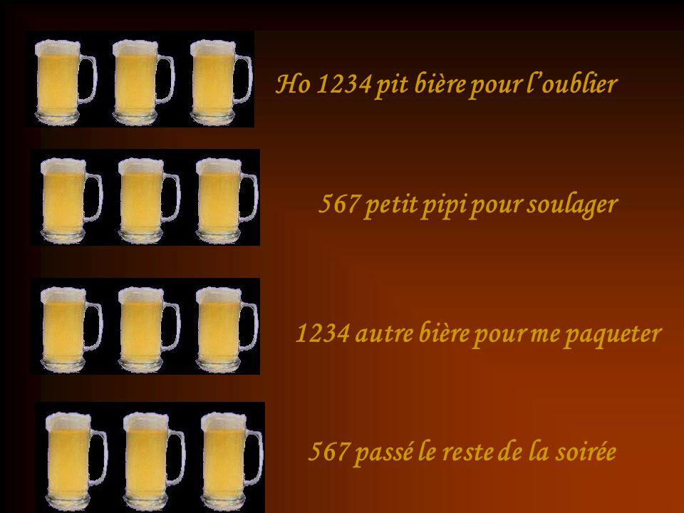 Ho 1234 pit bière pour l'oublier