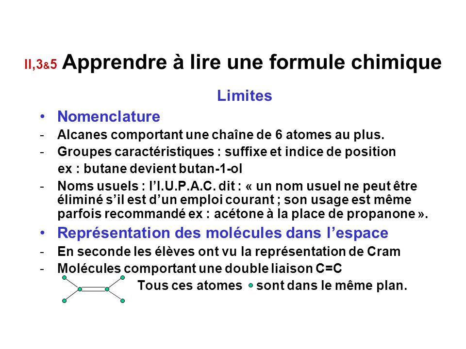 II,3&5 Apprendre à lire une formule chimique