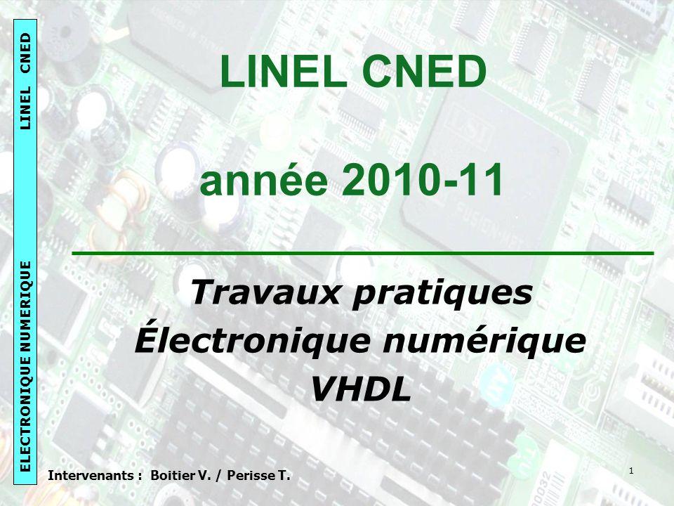 Électronique numérique Intervenants : Boitier V. / Perisse T.