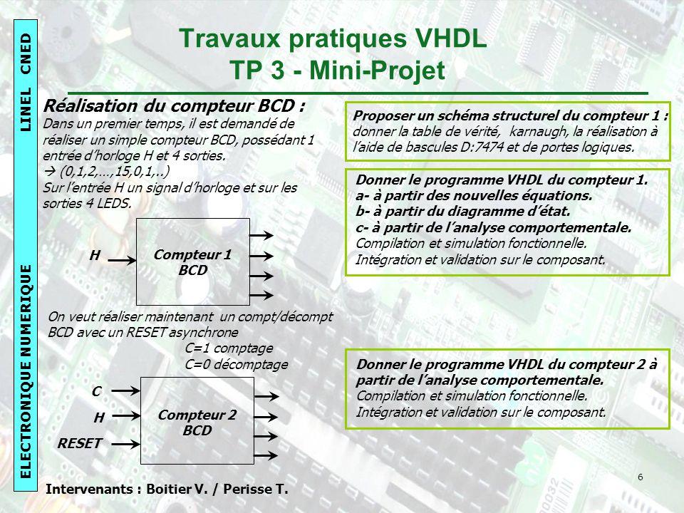 Travaux pratiques VHDL TP 3 - Mini-Projet