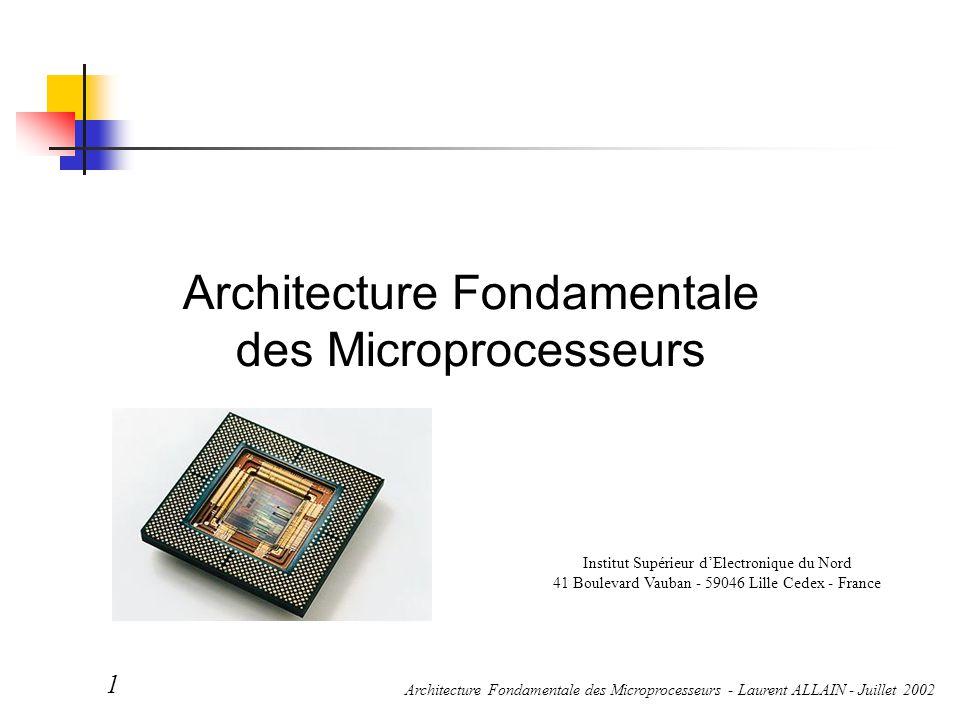 Architecture Fondamentale des Microprocesseurs