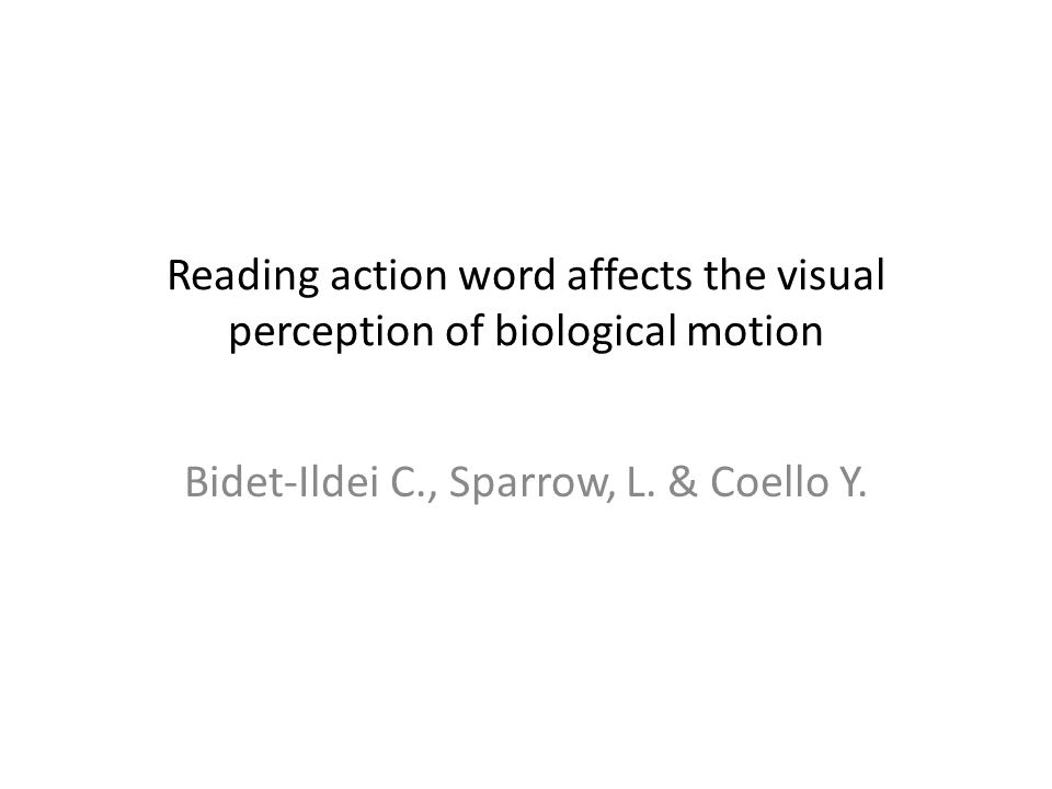Reading action word affects the visual perception of biological motion