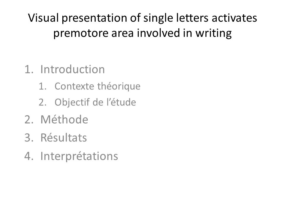 Visual presentation of single letters activates premotore area involved in writing