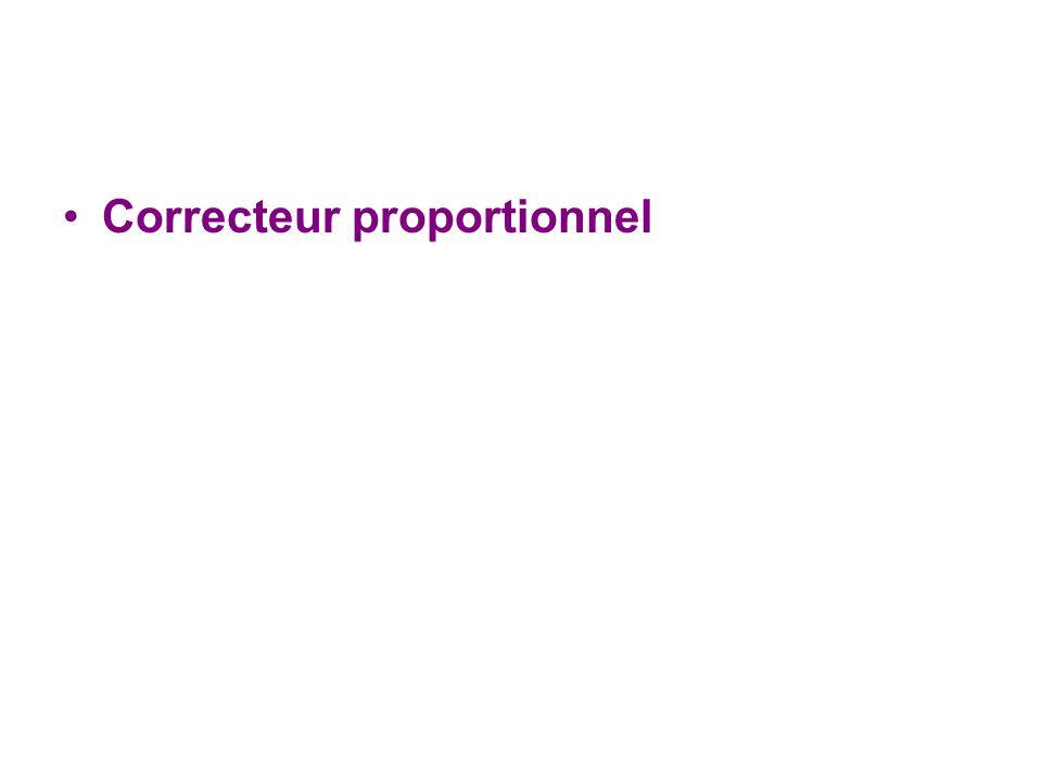 Correcteur proportionnel