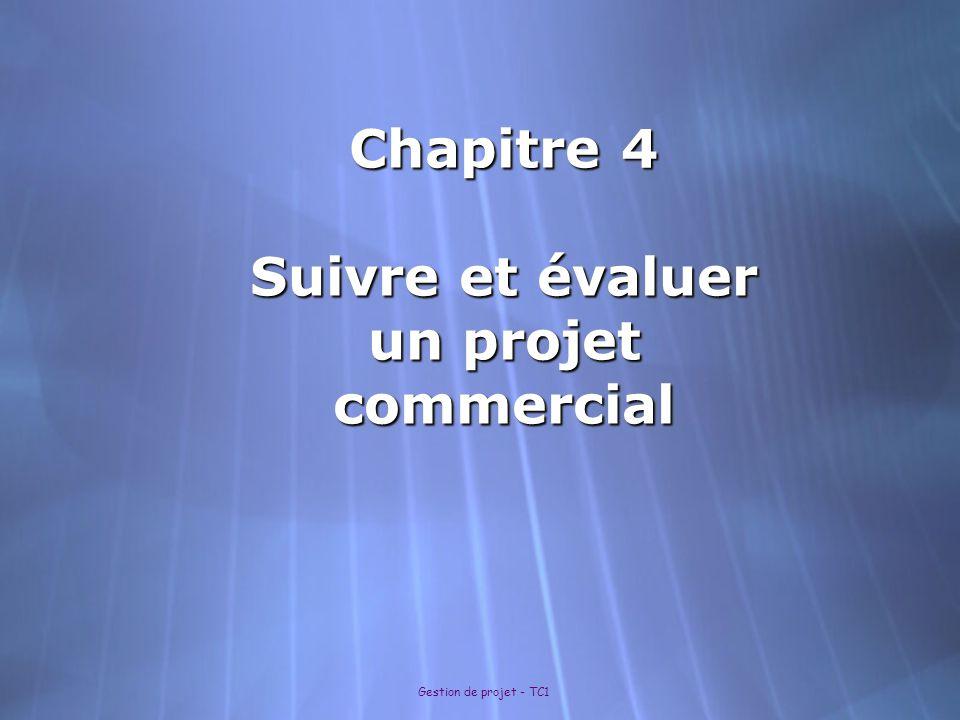 Chapitre 4 Suivre et évaluer un projet commercial