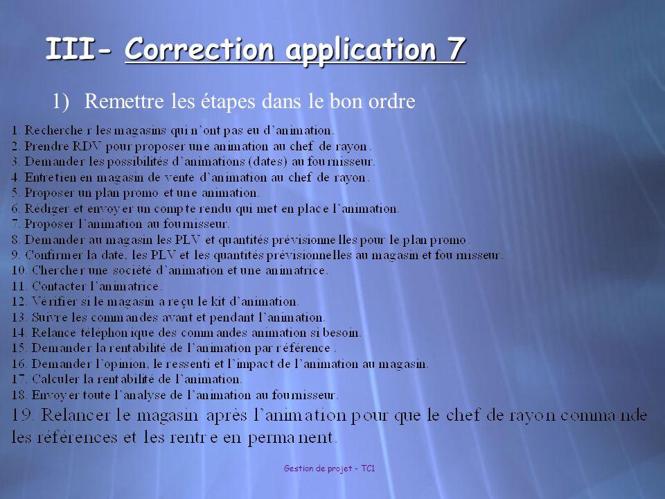 III- Correction application 7