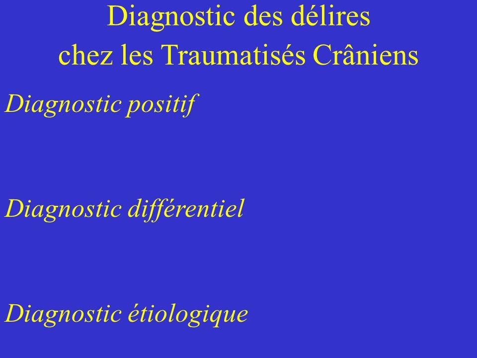 Diagnostic des délires chez les Traumatisés Crâniens