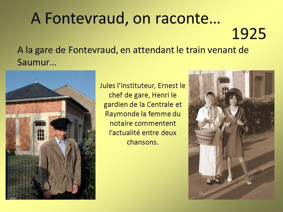 A la gare de Fontevraud, en attendant le train venant de Saumur…
