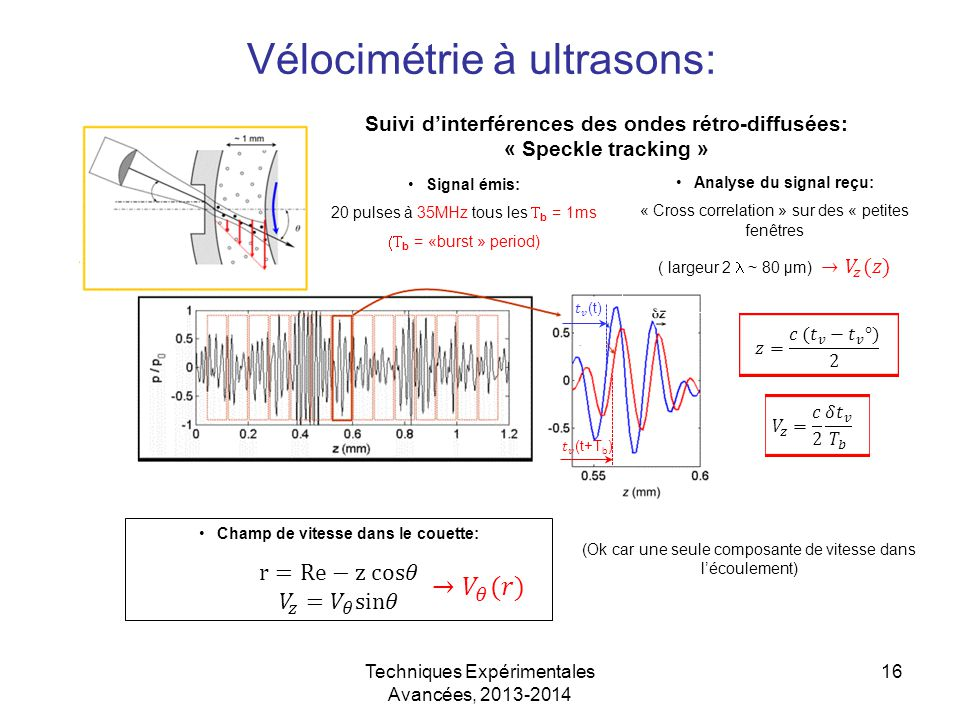 Vélocimétrie à ultrasons: