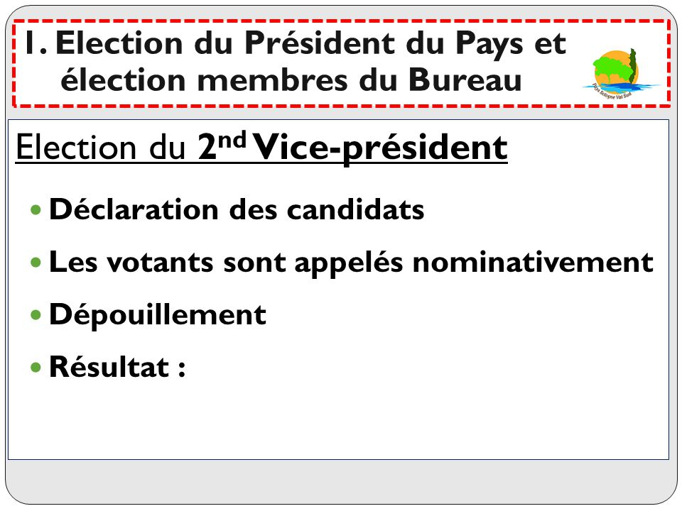 Election du 2nd Vice-président