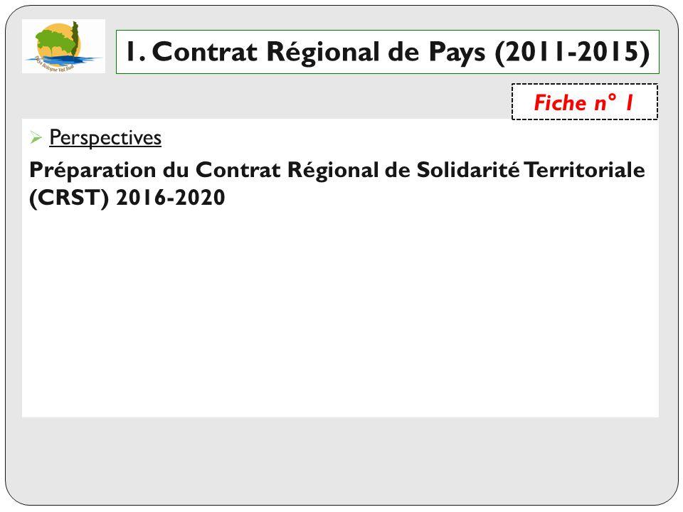 1. Contrat Régional de Pays (2011-2015)