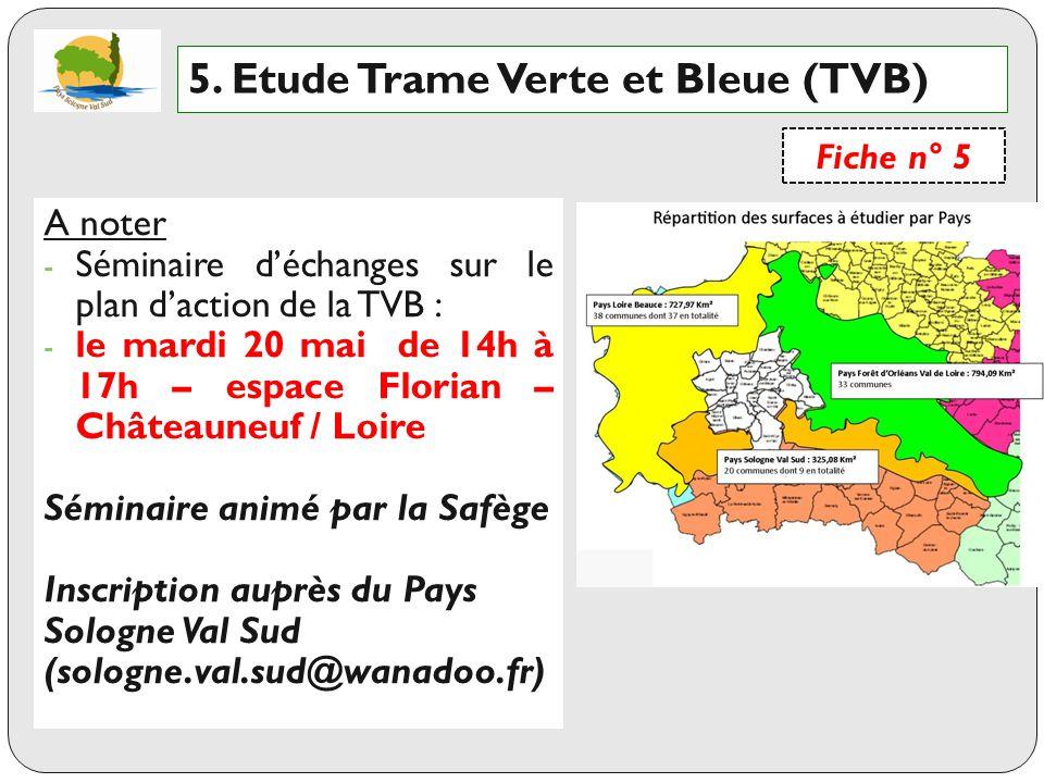 5. Etude Trame Verte et Bleue (TVB)