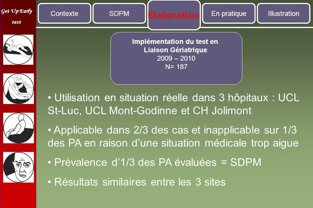 Implémentation du test en