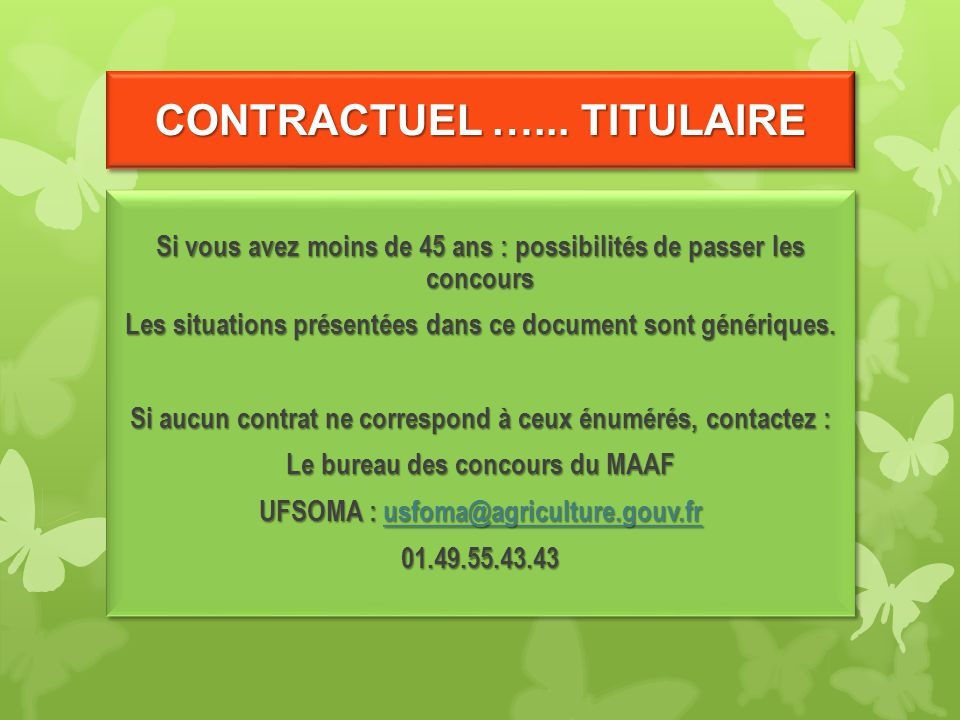 CONTRACTUEL …... TITULAIRE