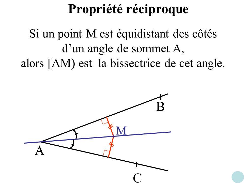 Propriété réciproque B A C