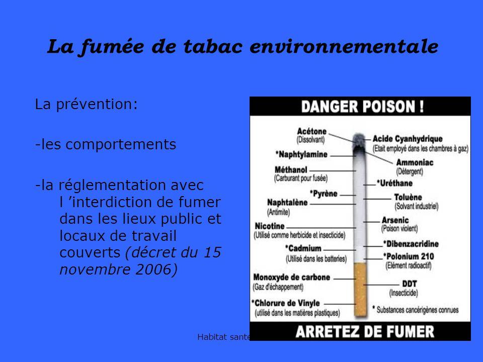La fumée de tabac environnementale