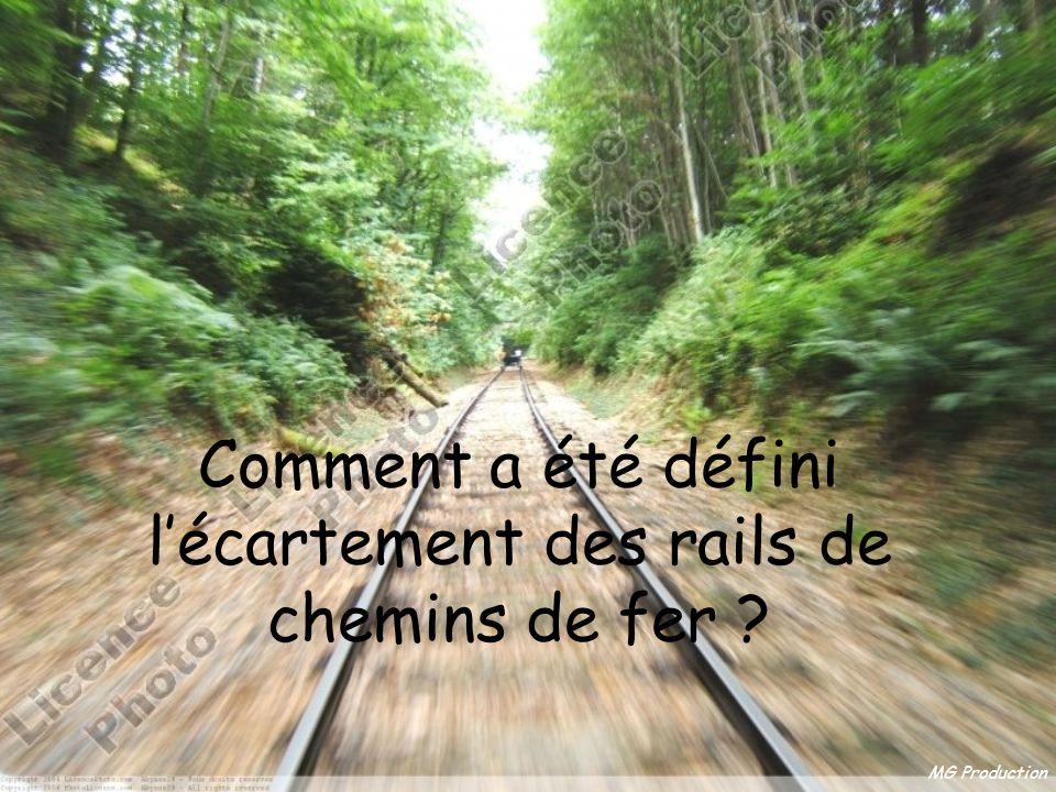 Comment a été défini l'écartement des rails de chemins de fer