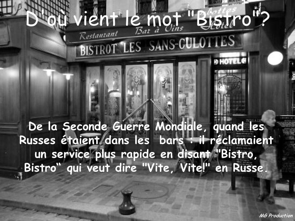 D où vient le mot Bistro