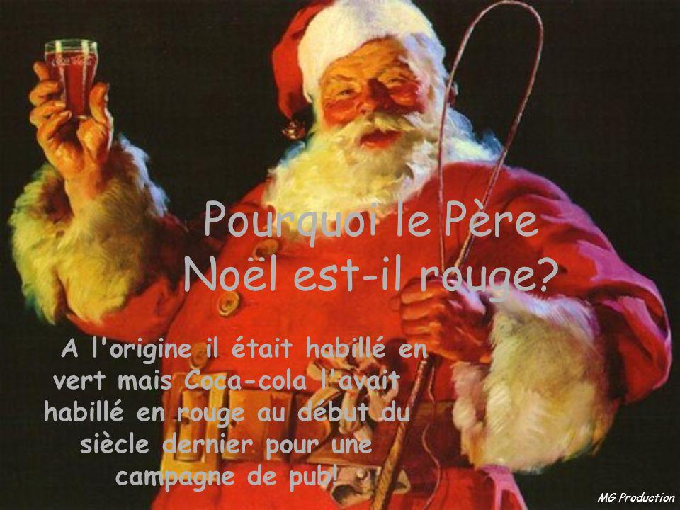Pourquoi le Père Noël est-il rouge