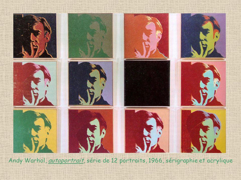 Andy Warhol, autoportrait, série de 12 portraits, 1966, sérigraphie et acrylique