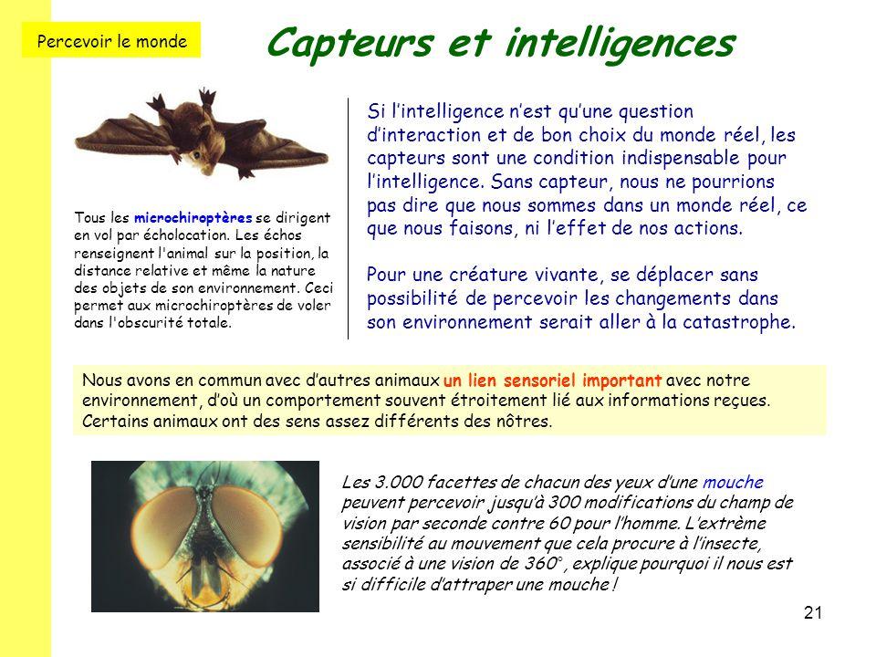 Capteurs et intelligences
